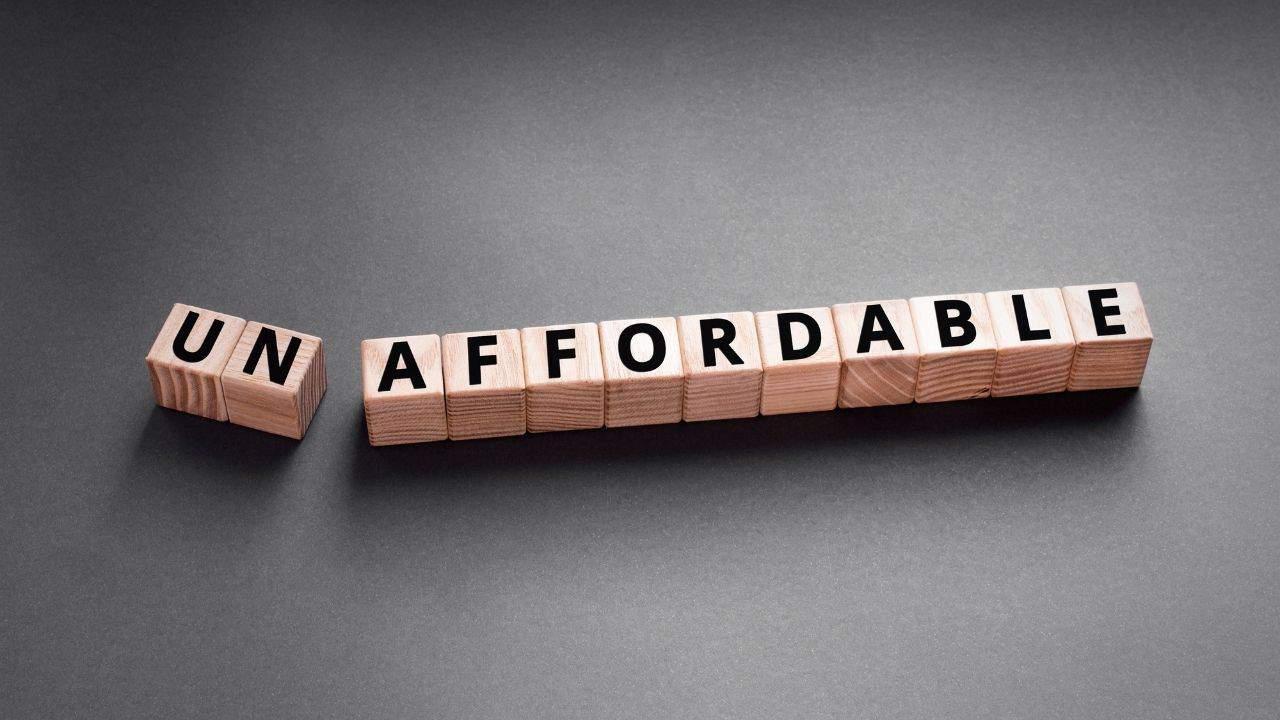 unaffordable mortgage